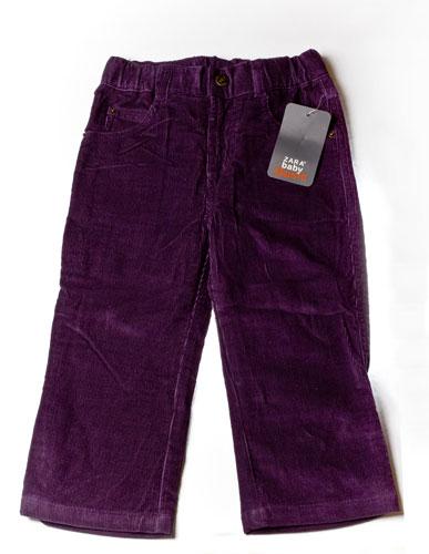 Брюки вельветовые, 18-24мес., фиолет.
