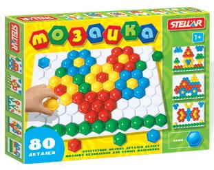 Мозаика, 80 деталей, 40мм /02377/Стеллар