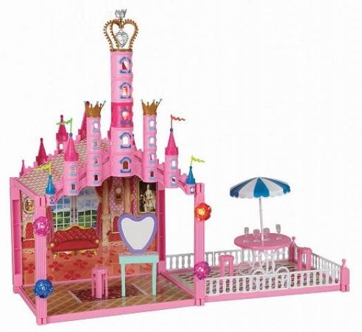 Замок для кукол с меб., свет.эфф.,79дет../26147/1toy