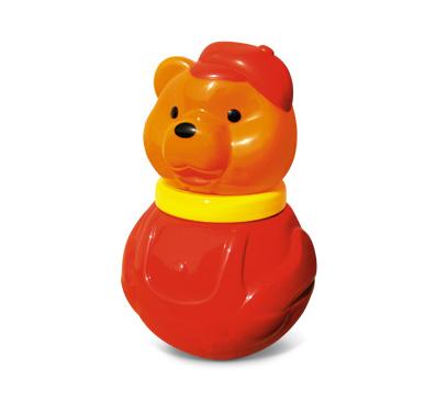 Неваляшка малая бурый медведь в кепке /10903/Стеллар
