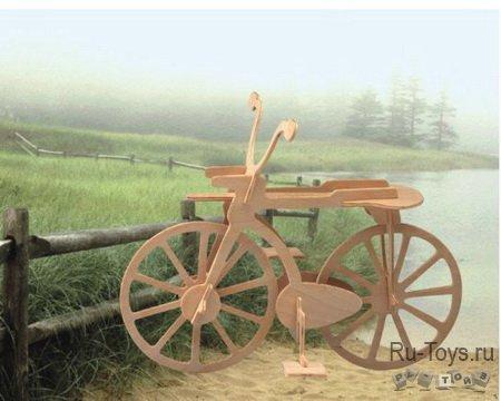 Авто Велосипед малый/09771/ Wooden Toy