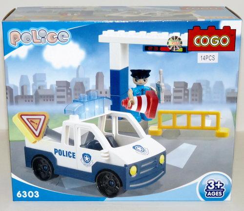 Конструктор для малышей Полиция 14 дет/28507/COGO