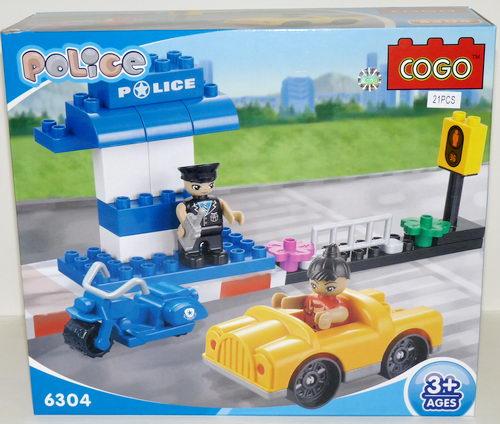 Конструктор для малышей Полиция 21 дет/28508/COGO