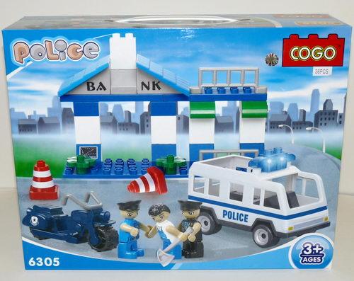 Конструктор для малышей Полиция 36 дет/28509/COGO