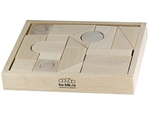 Конструктор деревянный неокрашенный, 23 деталей/31455/ Ku-Bik