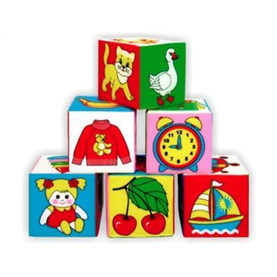 Кубики мягкие Предметы/01138/ Мякиши