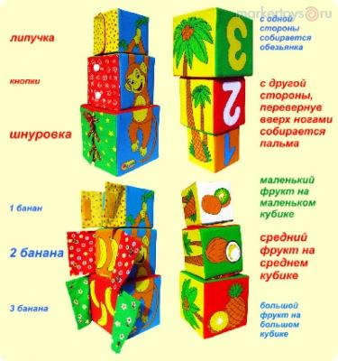 Игрушка - башенка Умная мартышка /18775/ Мякиши