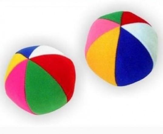 Мяч с погремушкой Радуга /00522/ Мякиши