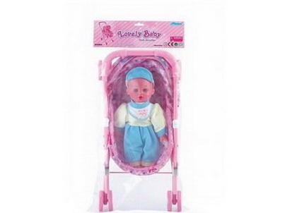 Коляска для кукол размер 33.5х26.5х55 см/31681/ РТ