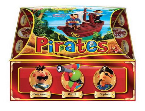 Масса для лепки Морские пираты/22435/Оранжевый слон