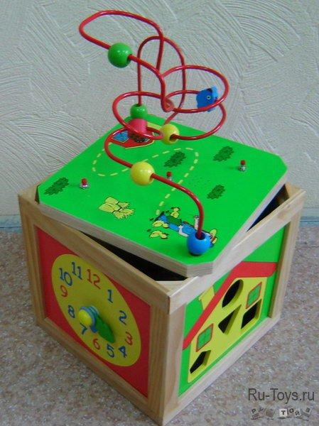 Куб логический счеты, часы, серпантин/03363/РТ
