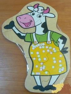 Животные пазл средний. Корова /15884/РНТойс
