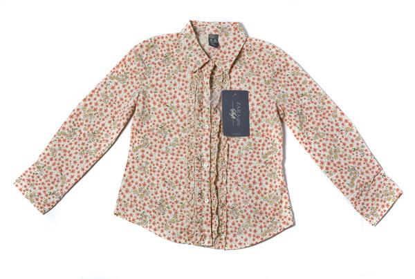 Рубашка дев, р. 110, пестрая