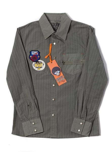 Рубашка мальч. на кнопках, р.40, серая