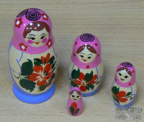 Матрешка 4-х кукольная  /09074/ Хохлома