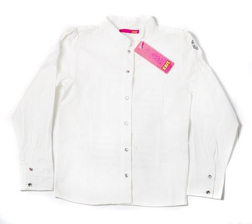 Рубашка дев. с буквами, р. 128см, белая