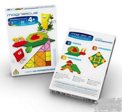 Мини мозаика на холодильник 4+ /7 цветов/99 эл  ./34068/Magneticus