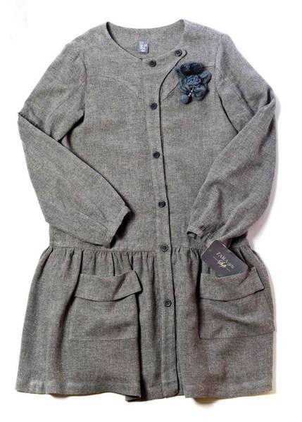 Платье, р. 164, серое шерстяное