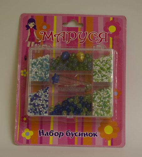 Набор бусинок на блистере/Маруся