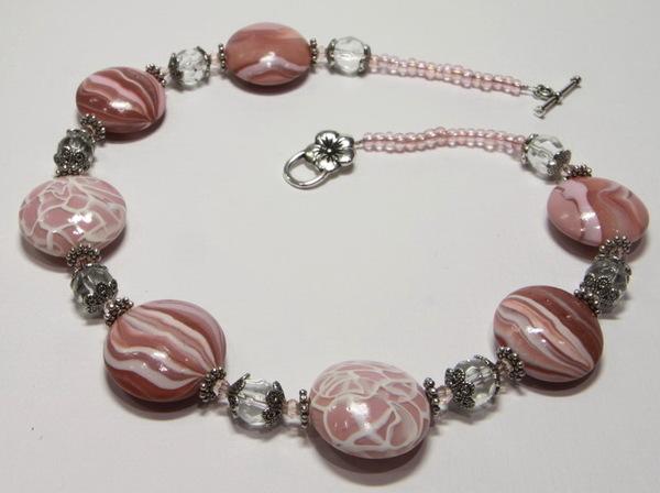 Бижутерия Двухслойное розовое колье