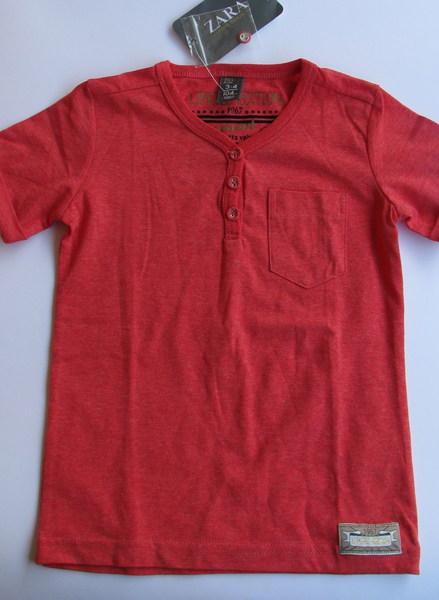 Фуфайка (футболка) кирпичная, 3-4года, Zara