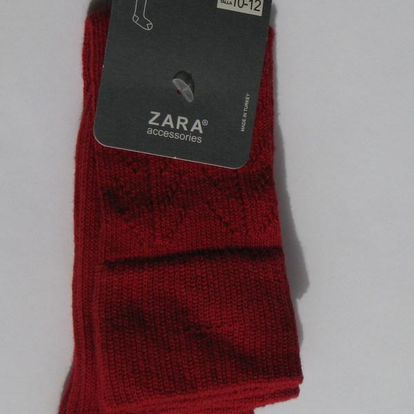 Гольфы красные ажурные, Zara
