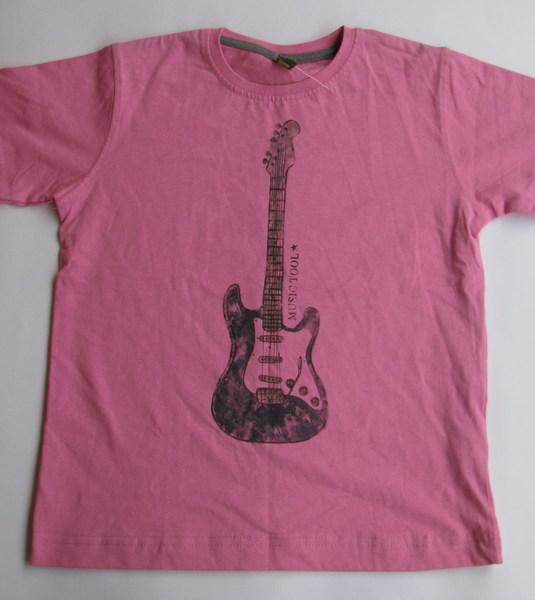 Футболка розовая с гитарой, 7-8лет, Zara