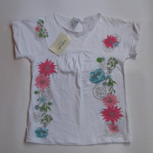 Фуфайка (футболка) с цветами,  Zara
