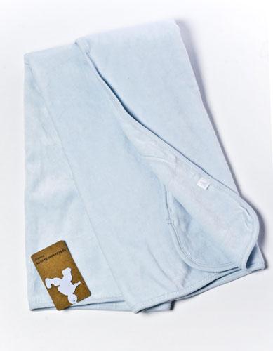 Одеялко утепленное велюровое, голубое