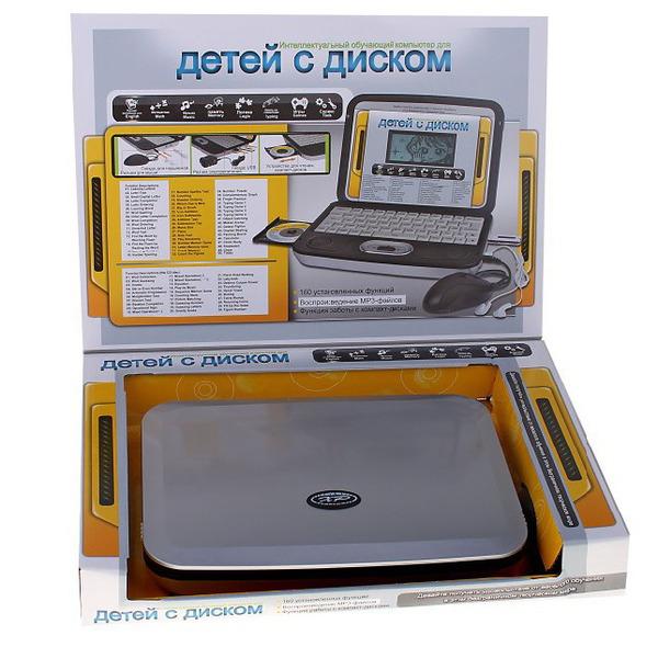 Компьютер обучающий 80 упражнений с диском/31818/Игрушки КНР