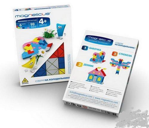Мини мозаика на холодильник 4+ /6 цветов/99 эл  в ассортименте./34065/Magneticus