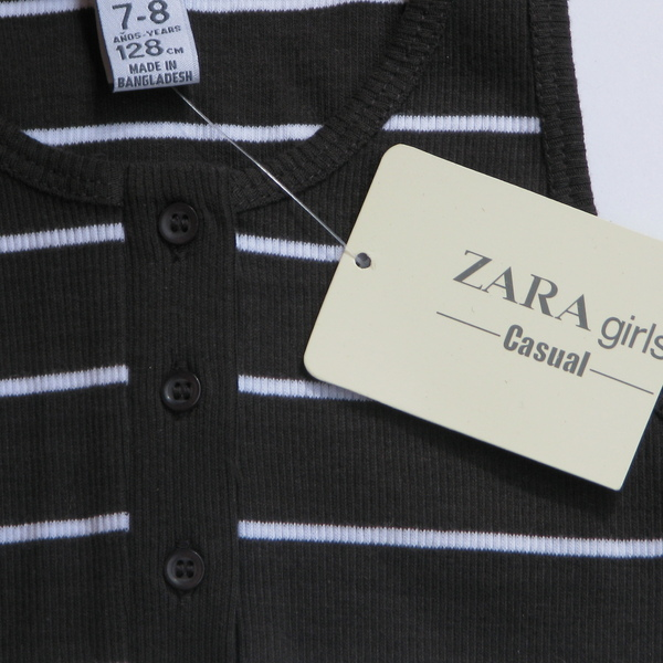 Майка черная в полоску, Zara