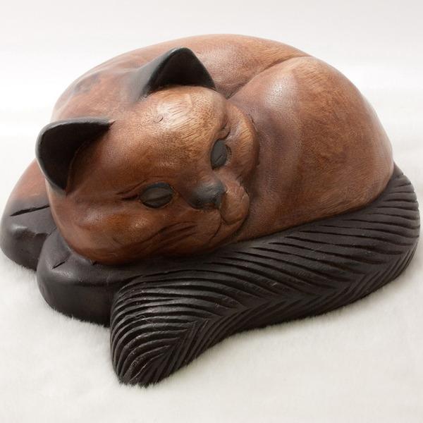 Кошка настольная деревянная 27,5см