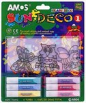 НАБОР витражных красок 3 мини витража + 6 цветов /25741/AMOS