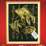 Гравюра с эффектом золота Рыба /01614/ LORI