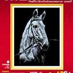 Гравюра с эффектом сереба Лошадь /00857/ LORI