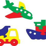 Мозаика мини-фигурки Транспорт /22817/Тедико