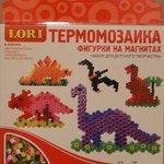 Фигурки на магнитах из термомозаики Динозаврики/09985 / LORI