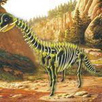 Динозавр Брахиозавр цветной./02647/ Wooden Toy