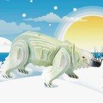 Животные Белый медведь цветной/09894/ Wooden Toy