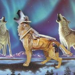 Животные Волк цветной/09895/ Wooden Toy