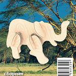 Мини Африканский слон /01351/ Wooden Toy