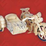 Мото Мотоцикл с коляской /01299/ Wooden Toy