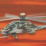 Самолеты Вертолет Апачи цв /01394/ Wooden Toy