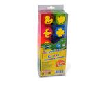 Пальчиковые краски 10 цветов, штампики /15841/ Развивашки