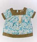 Блуза нарядная, р.98, (бирюза-беж)