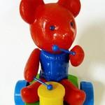 Каталка Мишка с барабаном/26958/ Парнас