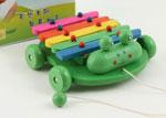 Ксилофон-каталка деревяный Лягушки, 269032