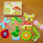Набор puzzle картинки - цифры в коробке (Гриб)/01012/Adex