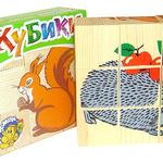 Кубики Животные леса 9 шт /00397/Томик